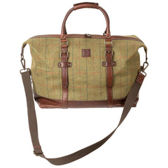 Rydale Mens Tweed & Leather Weekend Travel Bag