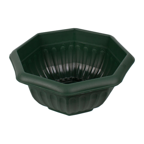 Green Octagonal Flower Bowl 32cm