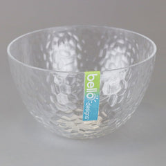 Bello Small Clear Dimple Plastic Bowl