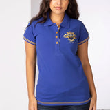 Royal Blue Ladies Polo Shirt With Equestrian Crest
