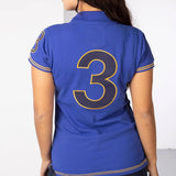 Close Up Of Rydale Equestrian Team Number 3 Royal Blue