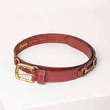 Pink Snaffle Leather Belt