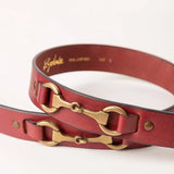 Womens Pink Leather Belts