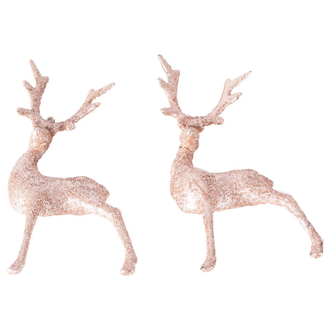 Rose gold reindeer's