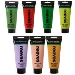 Reeves Acrylic Paint 200ml Tube (Selection Of Colours)
