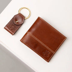 Mens Leather Ripley Wallet & Keyring Gift Set