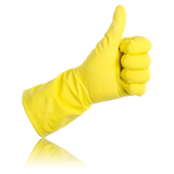 Thumbs Up Rubber Glove Reflected