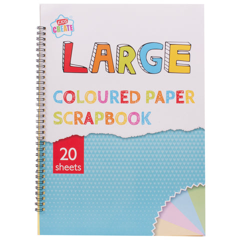 Large Coloured Paper Scrapbook