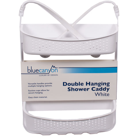 Double Hanging Shower Caddy White