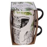Elephant Stackable Mugs 2 Pack