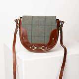 Womens Kate Tweed Messenger Style Saddle Bag