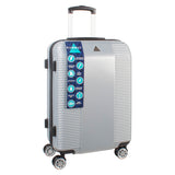 Large Silver ABS Suitcase With 4 Spinner Wheels
