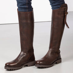 Ladies Tall Leather Riding Boots