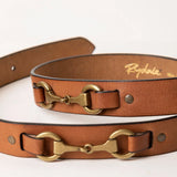 Ladies Equestrian Leather Belts With Snaffle Details