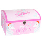Pink Unicorn Christmas Gift Box Chest