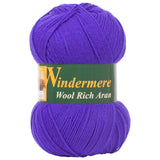 Purple Aran Wool