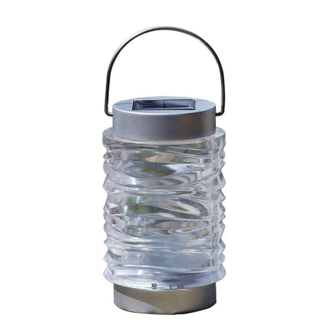 Solar Powered Stainless Steel Lantern