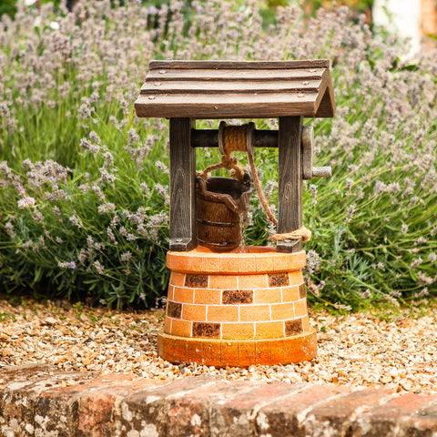 Smart Solar Wishing Well Fountain 51 x 31cm
