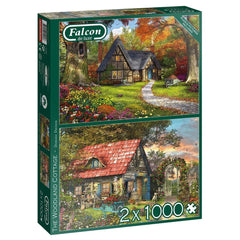 Woodland Cottages 2x 1000 Piece Jigsaws