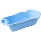 Blue plastic baby bath