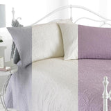 Embossed Parisienne Bedspread & 2 Pillow Shams