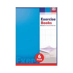 6 Pack Exercise Books
