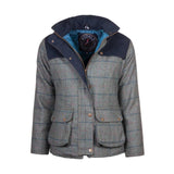 Bramham Short Tweed Jacket Blue Check