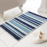 Micro Bobble Bath Mat - Blue