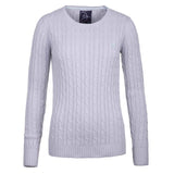 Crew Neck Cable Knit Sweater SilCrewer