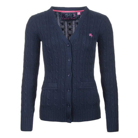 Ladies Cable Knit Cardigan Sweater