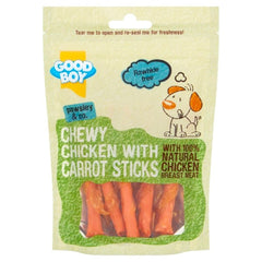 Chewy Chicken With Carrot Sticks