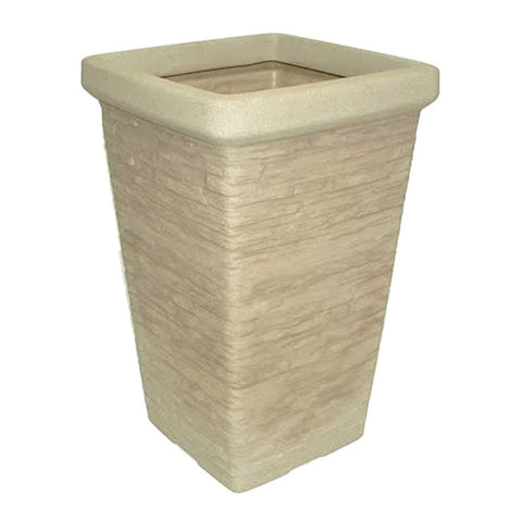 Garden Planter Chimney Stone Design