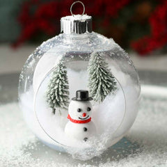Habico Clear Fillable Christmas Baubles