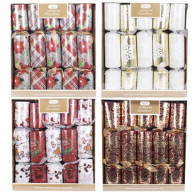 Tinsel Twin 10 Deluxe Christmas Crackers