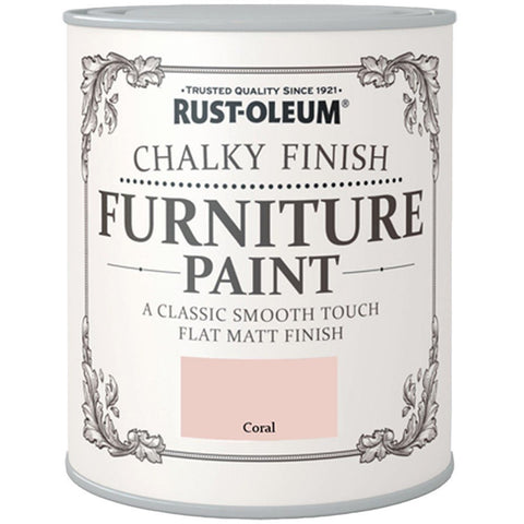 Chalky Finish Furniture Paint 750ml Coral