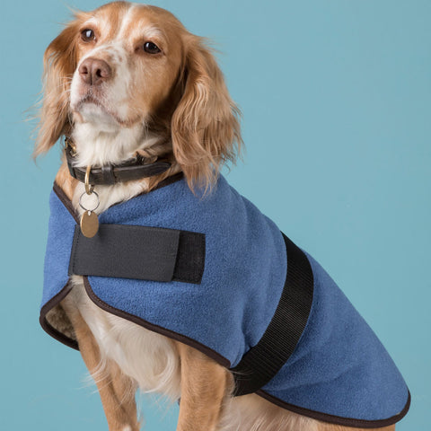 Harpham Fleece Dog Coat County Denim 20""