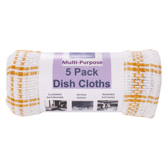 100% Cotton Multi-Purpose Dish cloths 5pk