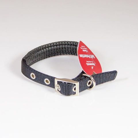 "Padded Dog Collar Soft Protection 14"" Black"