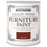 Chalky Finish Furniture Paint 750ml Fire Brick