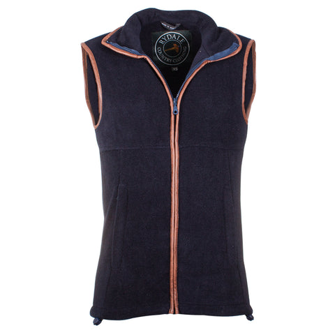Rydale Harpham Fleece Bodywarmer Navy