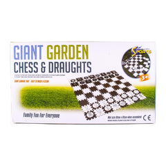 Giant Garden Chess & Draughts