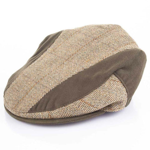Moleskin Trim Tweed Caps