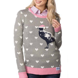 Rydale Christmas Jumper Grey Pheasant