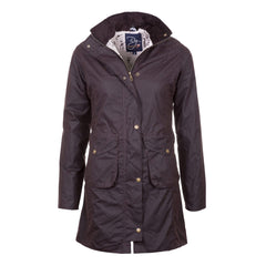 Ladies Hannah 3/4 Length DQ Wax Jacket Brown