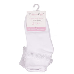 Cotton Rich Socks With Lace Detail