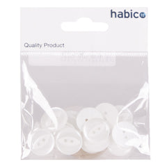 15 Large White Buttons
