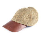 Tweed Baseball Cap with Leather Peak light check