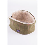Sherpa Lined Tweed Headband Light Green Pink