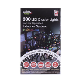 Cluster Timer Multi - Christmas Battery Operated Lights