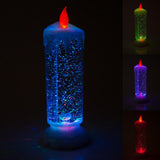 Colour Changing Glitter Candle